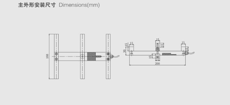CXA称重传感器安装尺寸图