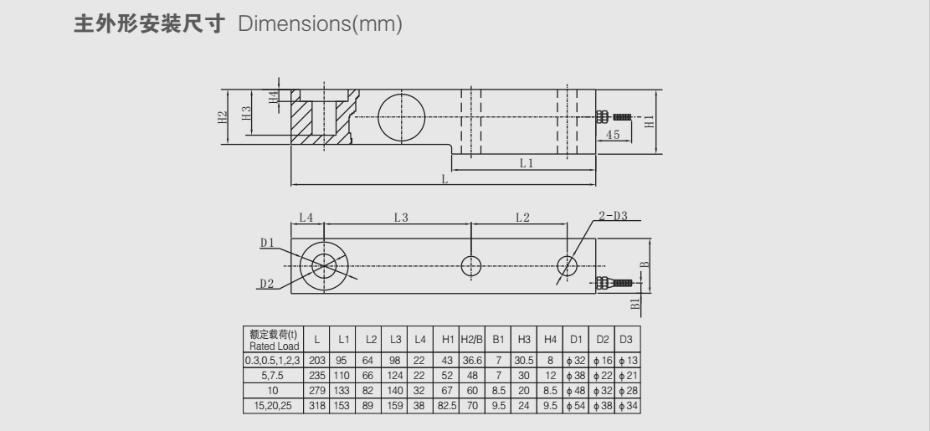 XBA-H1称重传感器