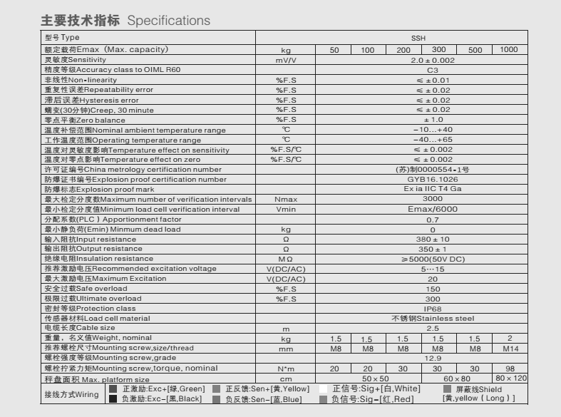 PXH称重传感器